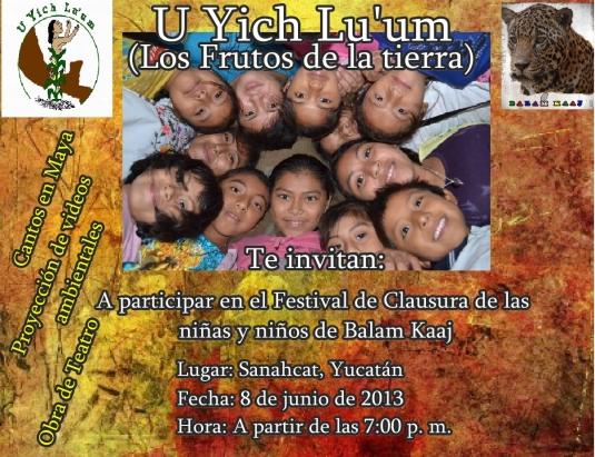 Invitación clausura Balam Kaaj